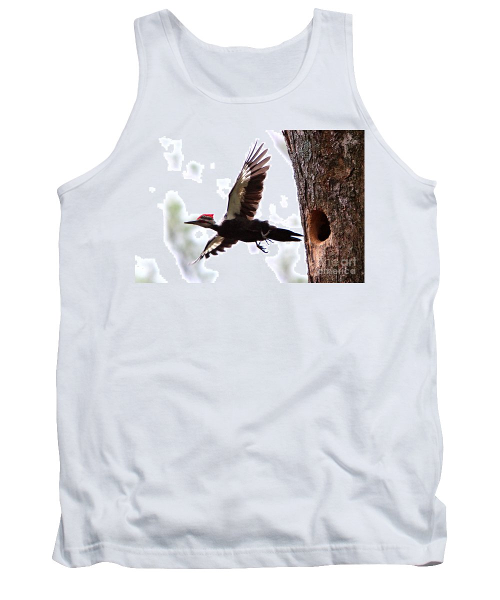 Birds Tank Top featuring the photograph Pileated Series #7 by James F Towne