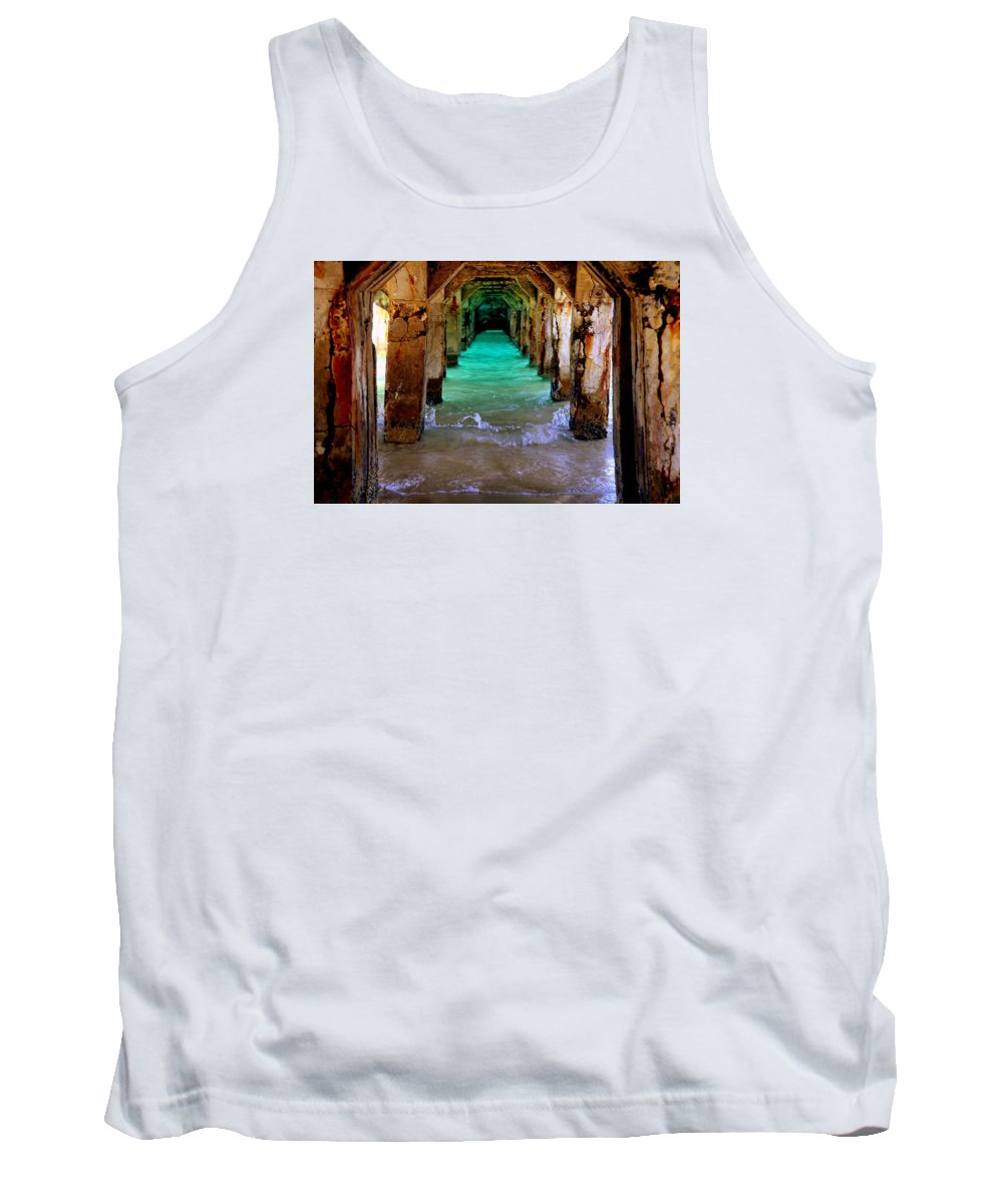 Waterscapes Tank Top featuring the photograph Pillars Of Time by Karen Wiles