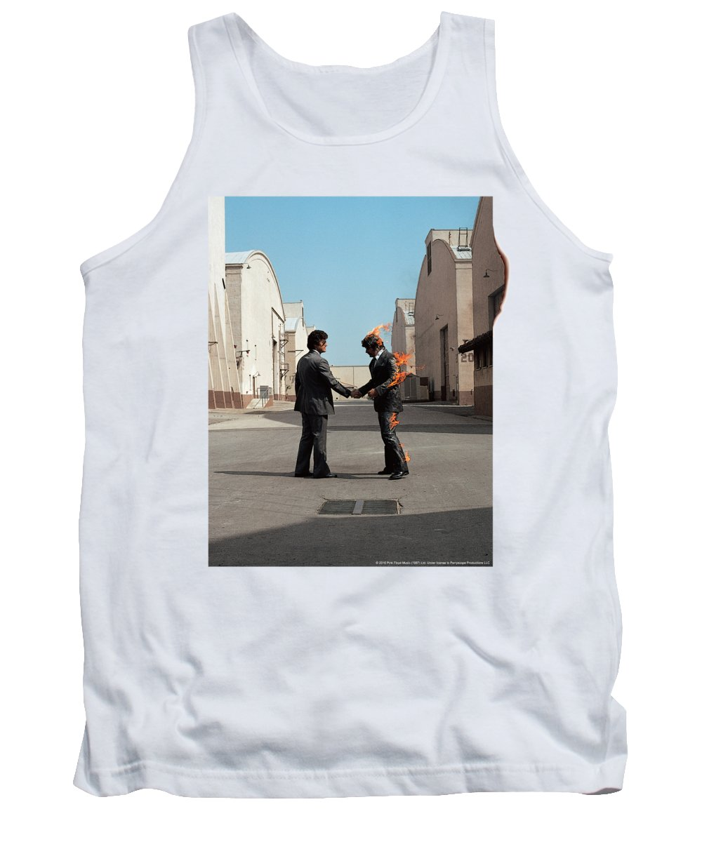 Tank Top featuring the digital art Pink Floyd - Wish You Were Here by Brand A