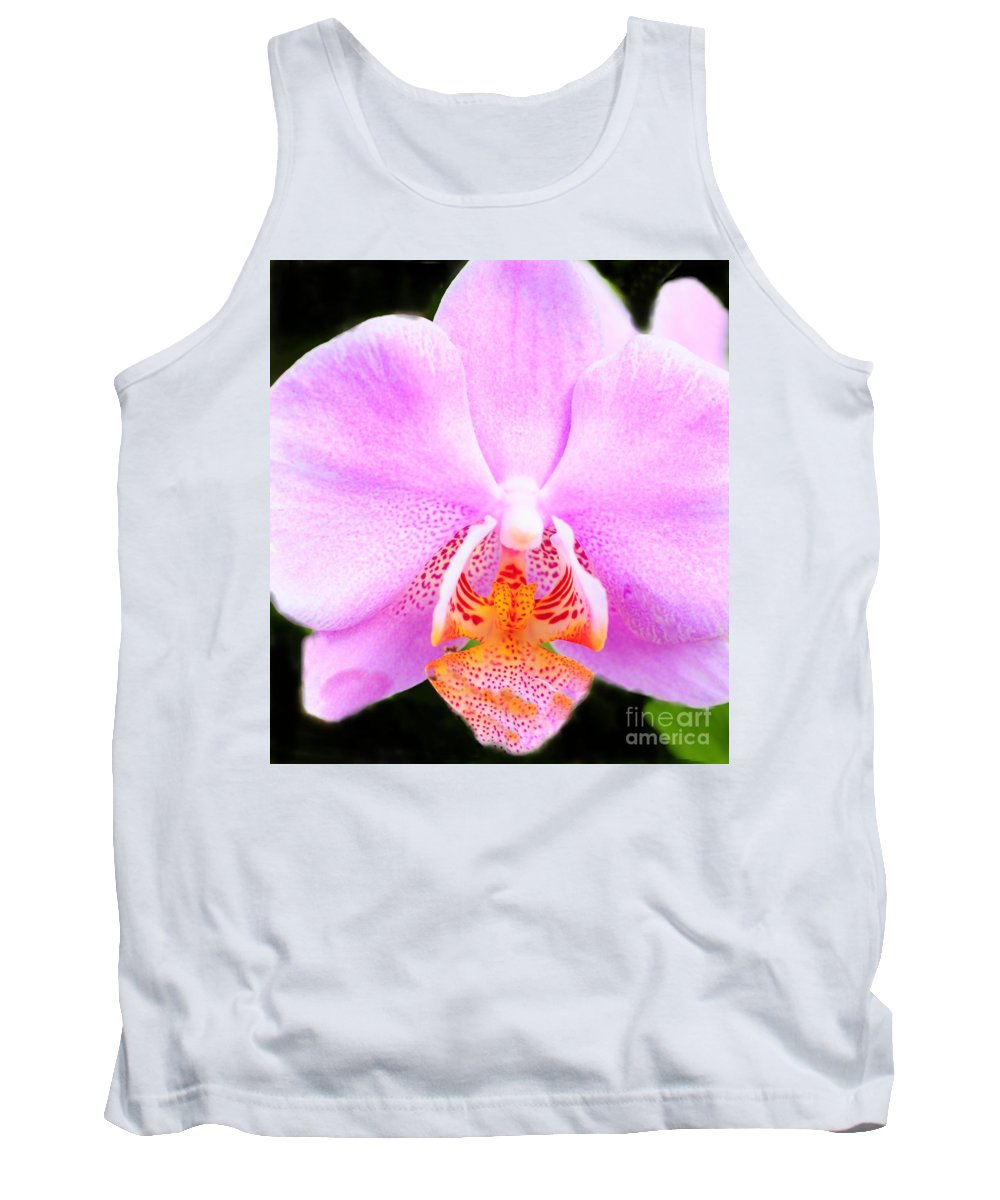 Pink Tank Top featuring the photograph Pink Orchid by Kathleen Struckle