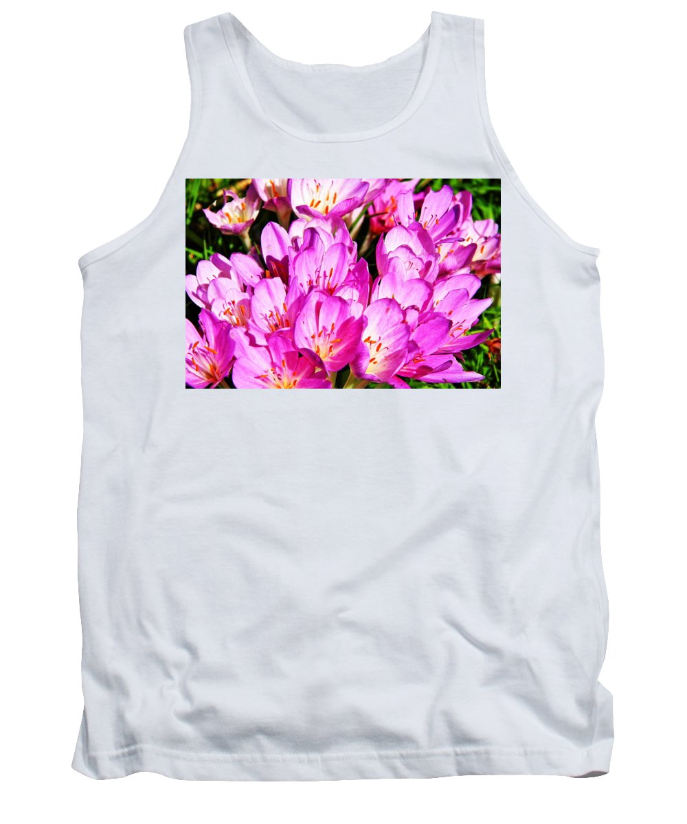 Flower Tank Top featuring the photograph Pink Summer Blossoms by Aidan Moran