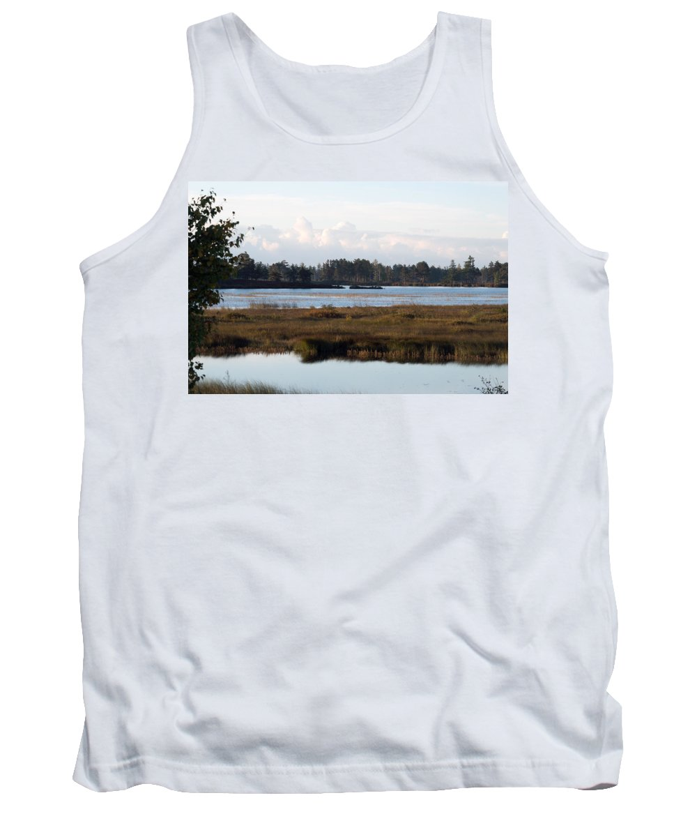 Wetland Tank Top featuring the photograph Pinks And Blues by Linda Kerkau