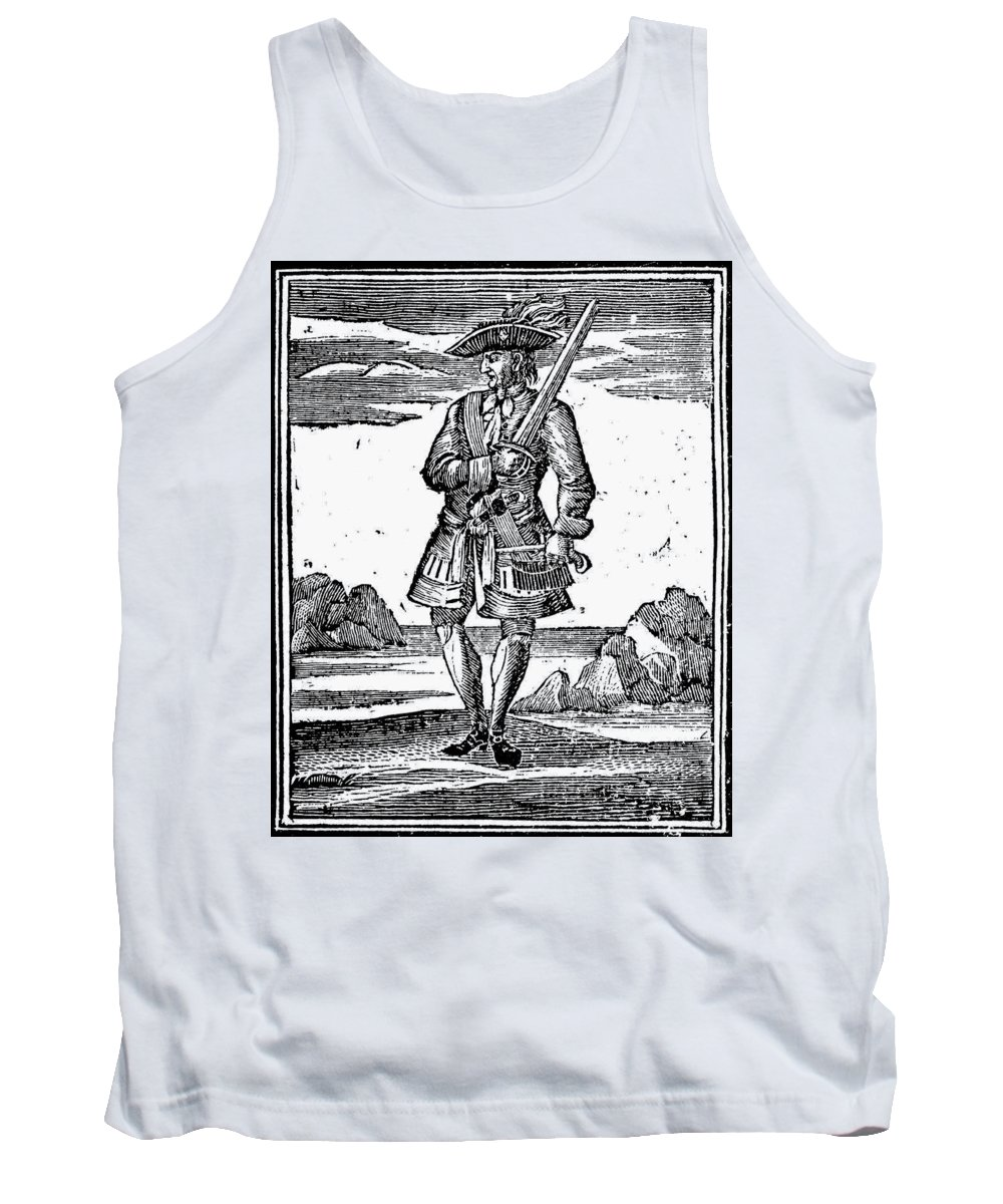 1725 Tank Top featuring the painting Pirate John Rackam, 1725 by Granger
