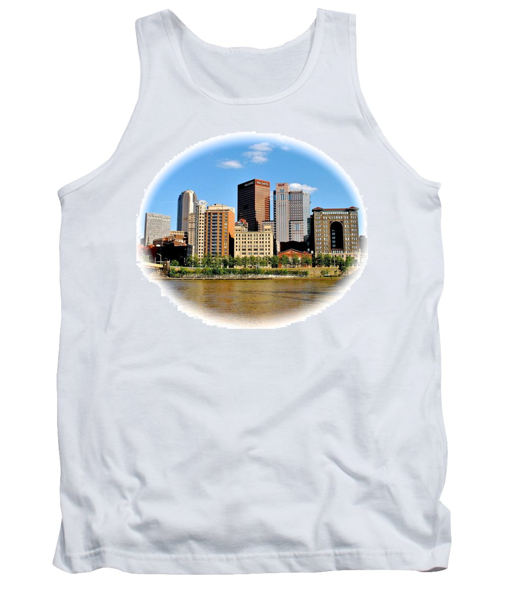 Pittsburgh Tank Top featuring the photograph Pittsburgh Pa In The Spotlight by Frozen in Time Fine Art Photography