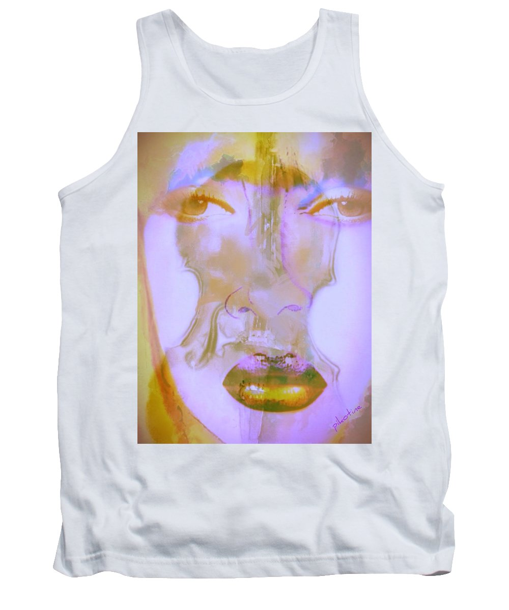 Play For Me Tank Top featuring the digital art Play For Me by Pikotine Art