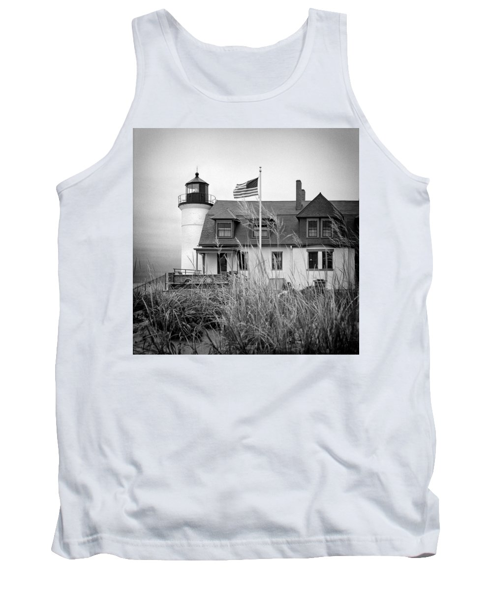 Jeff Tank Top featuring the photograph Point Betsie Lighthouse II by Jeff Burton