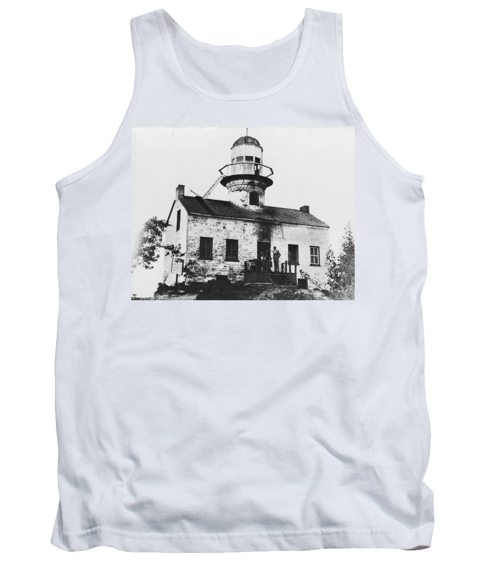 Point Tank Top featuring the photograph Point Loma Lighthouse by Jerry McElroy