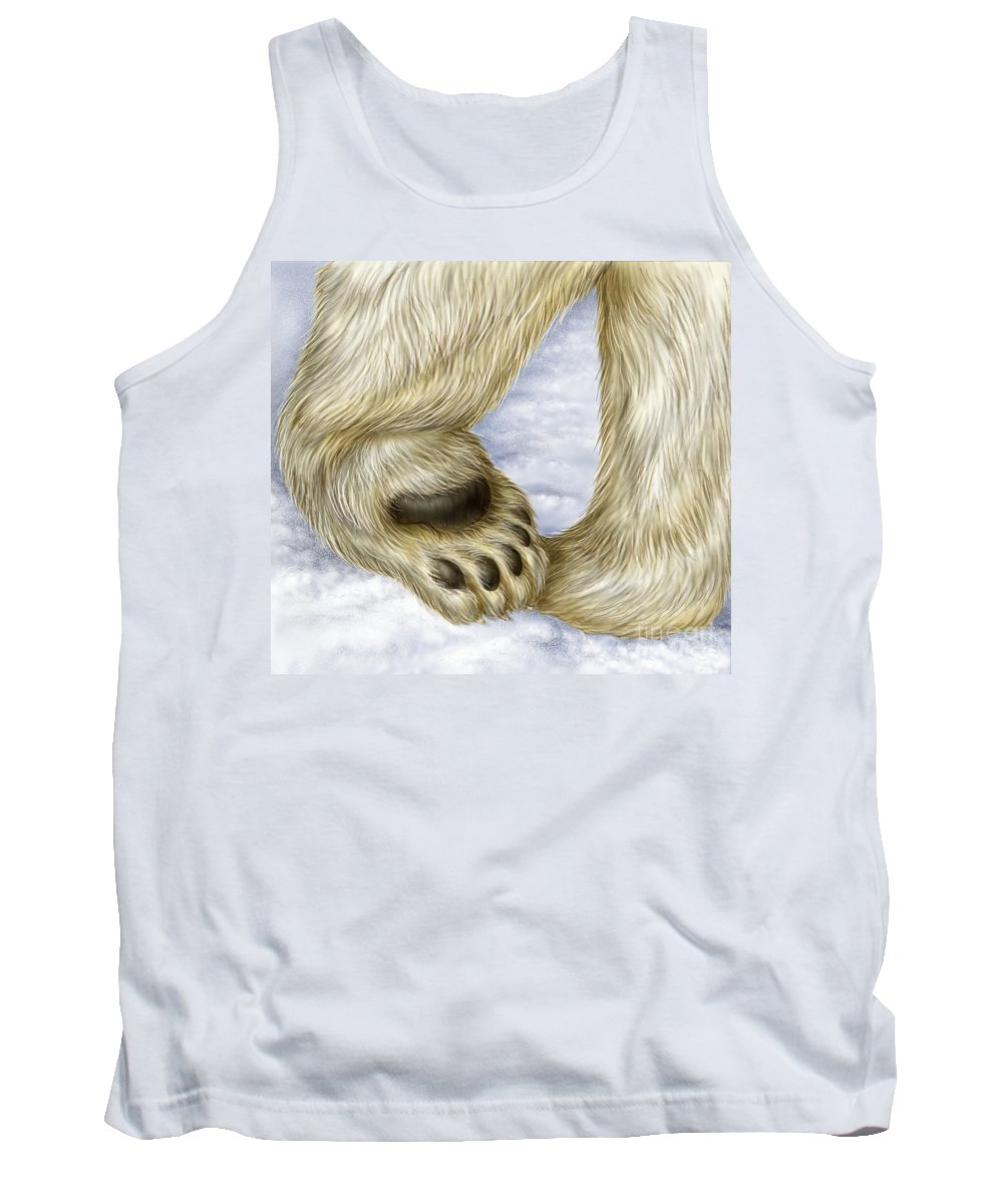 Bear Tank Top featuring the photograph Polar Bear Paw by Laurie OKeefe
