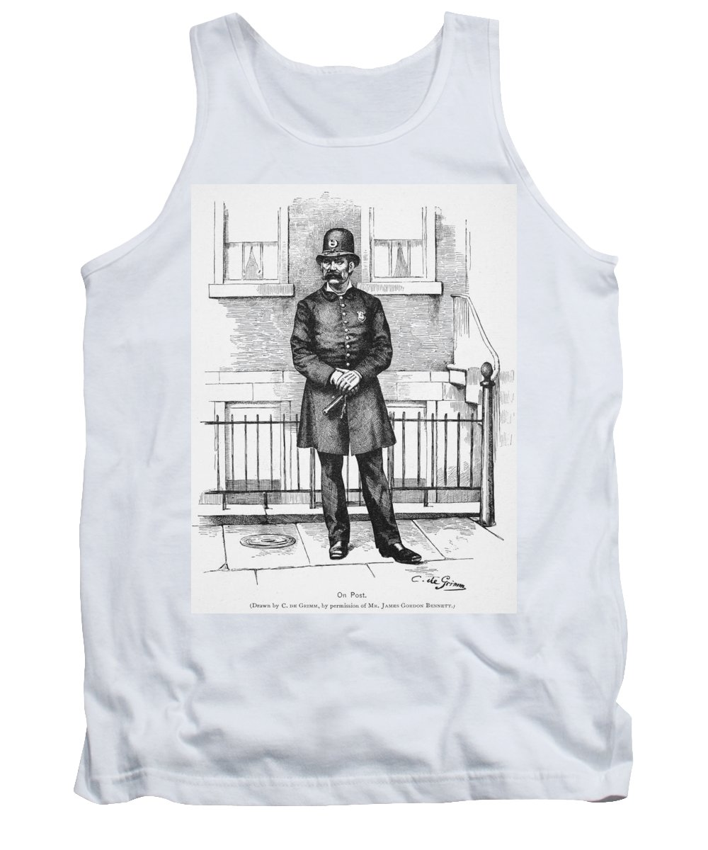 1885 Tank Top featuring the painting Policeman, C1885 by Granger