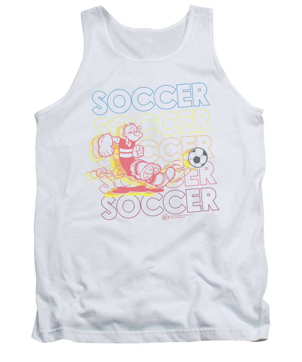 Popeye Tank Top featuring the digital art Popeye - Soccer by Brand A