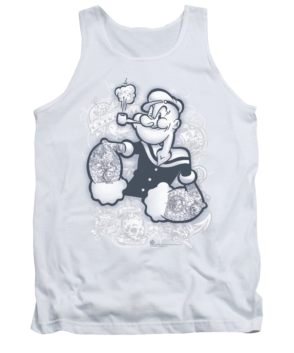 Popeye Tank Top featuring the digital art Popeye - Tattooed by Brand A