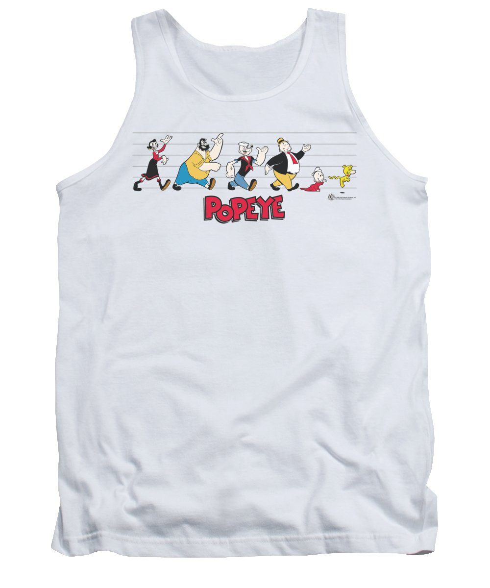 Popeye Tank Top featuring the digital art Popeye - The Usual Suspects by Brand A