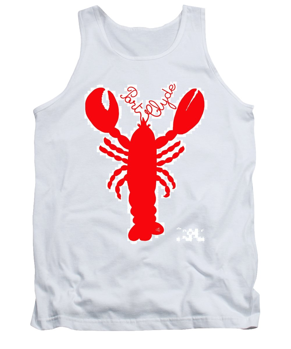 Port Clyde Maine Lobster With Feelers 201300605 Tank Top featuring the digital art Port Clyde Maine Lobster With Feelers 201300605 by Julie Knapp