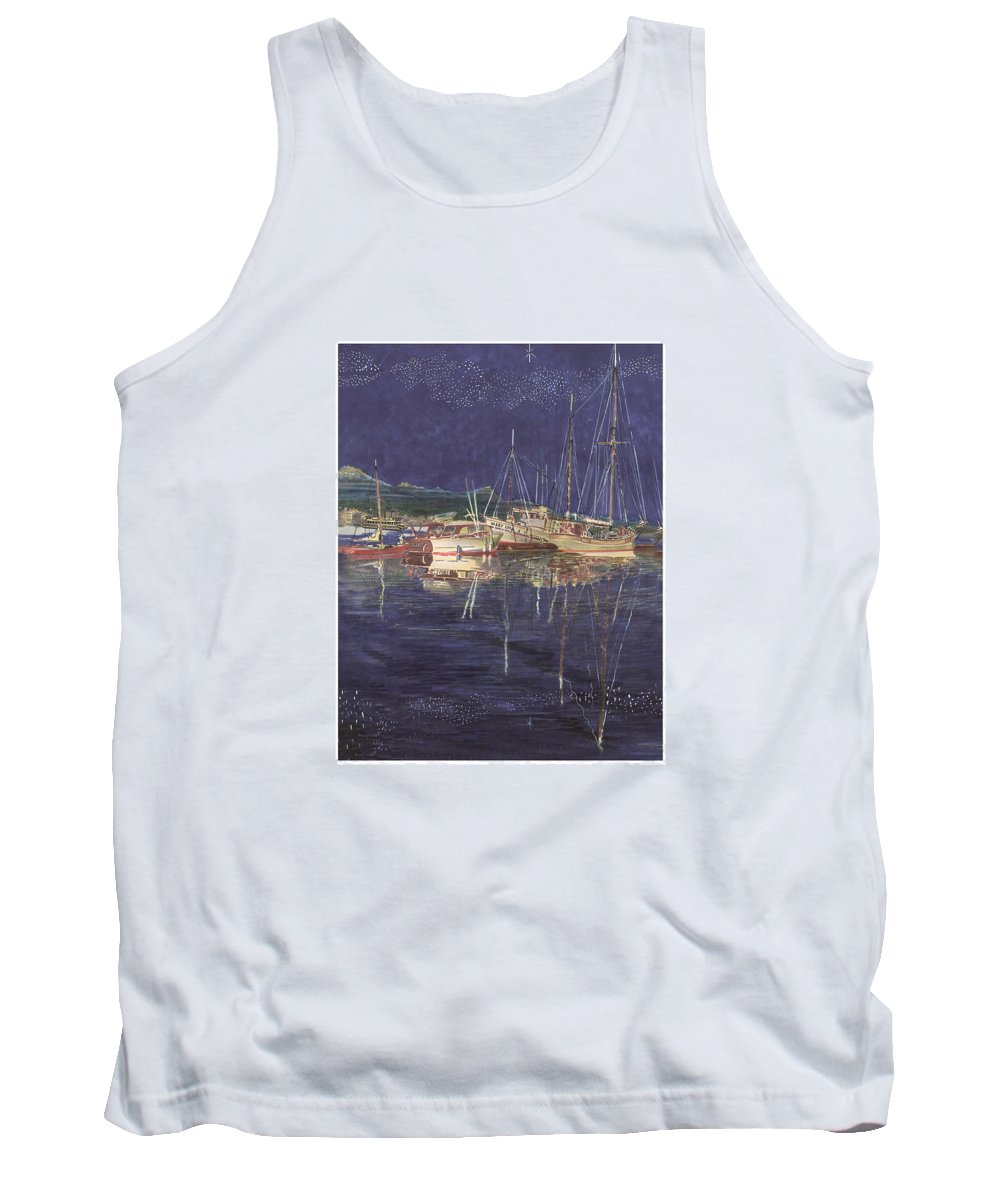 I Just Ordered A Shower Curtain For Myself With This Image On It Tank Top featuring the painting Stary Port Orchard Night by Jack Pumphrey