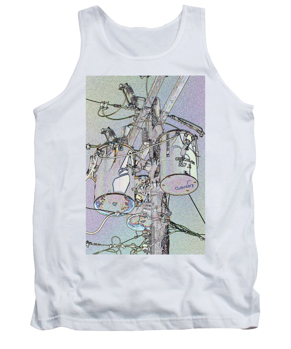 Electric Tank Top featuring the photograph Power To The People by Bob Slitzan