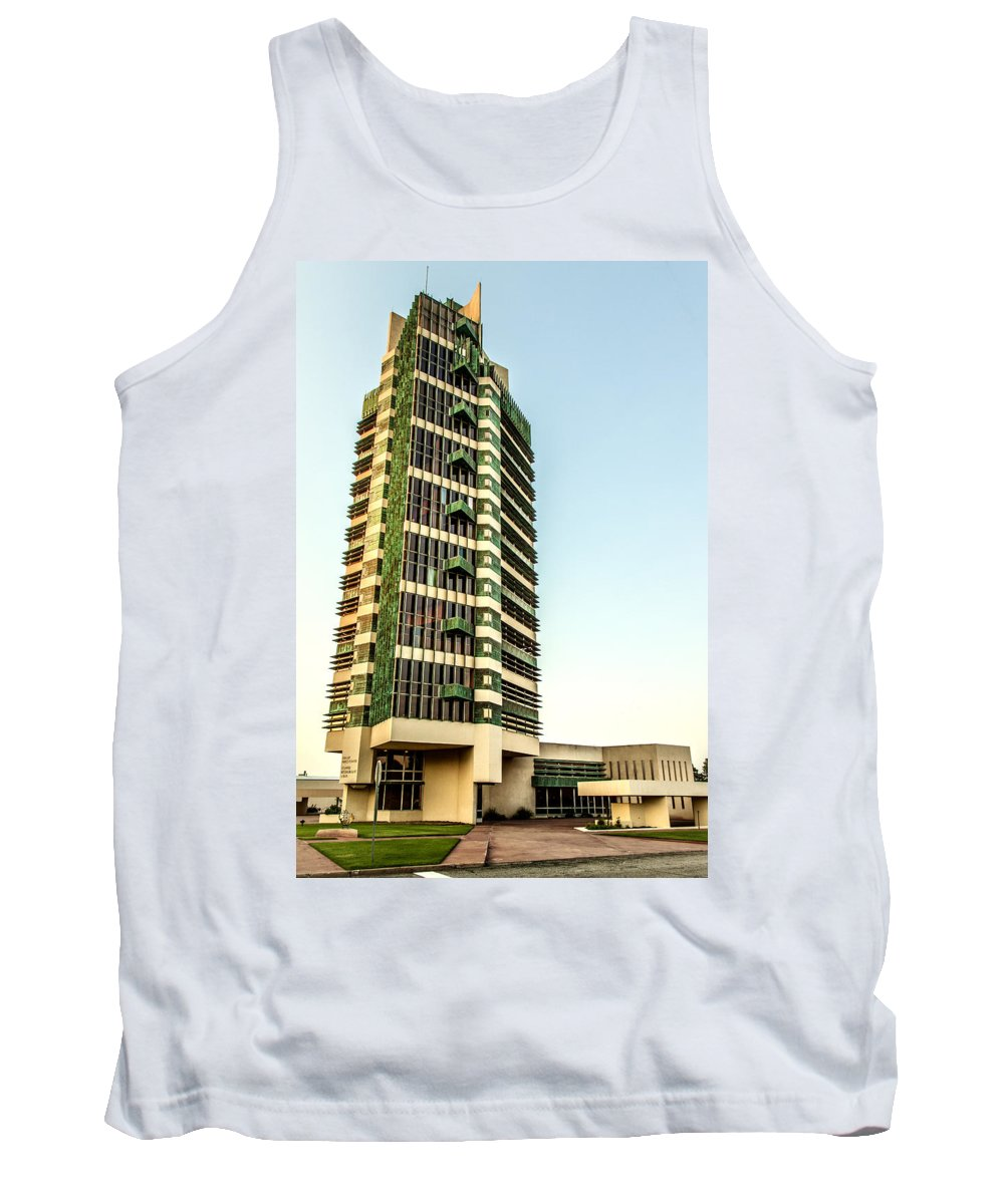 Frank Lloyd Wright Tank Top featuring the photograph Price Tower by Diana Powell