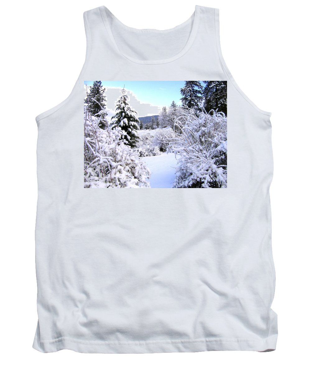 Pristine Winter Trail Tank Top featuring the photograph Pristine Winter Trail by Will Borden