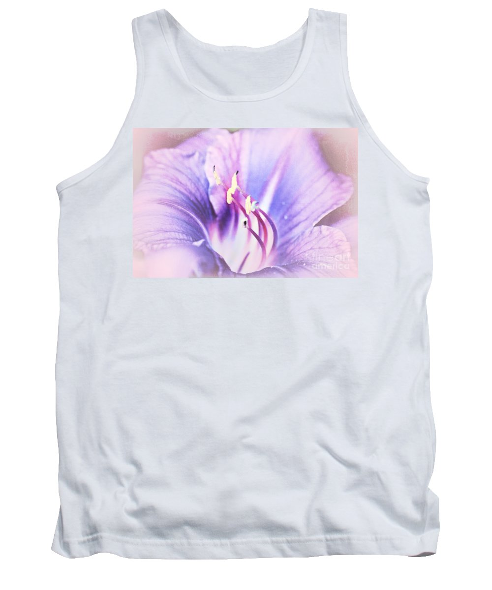 Purple Tank Top featuring the photograph Purple Lily by Lali Kacharava
