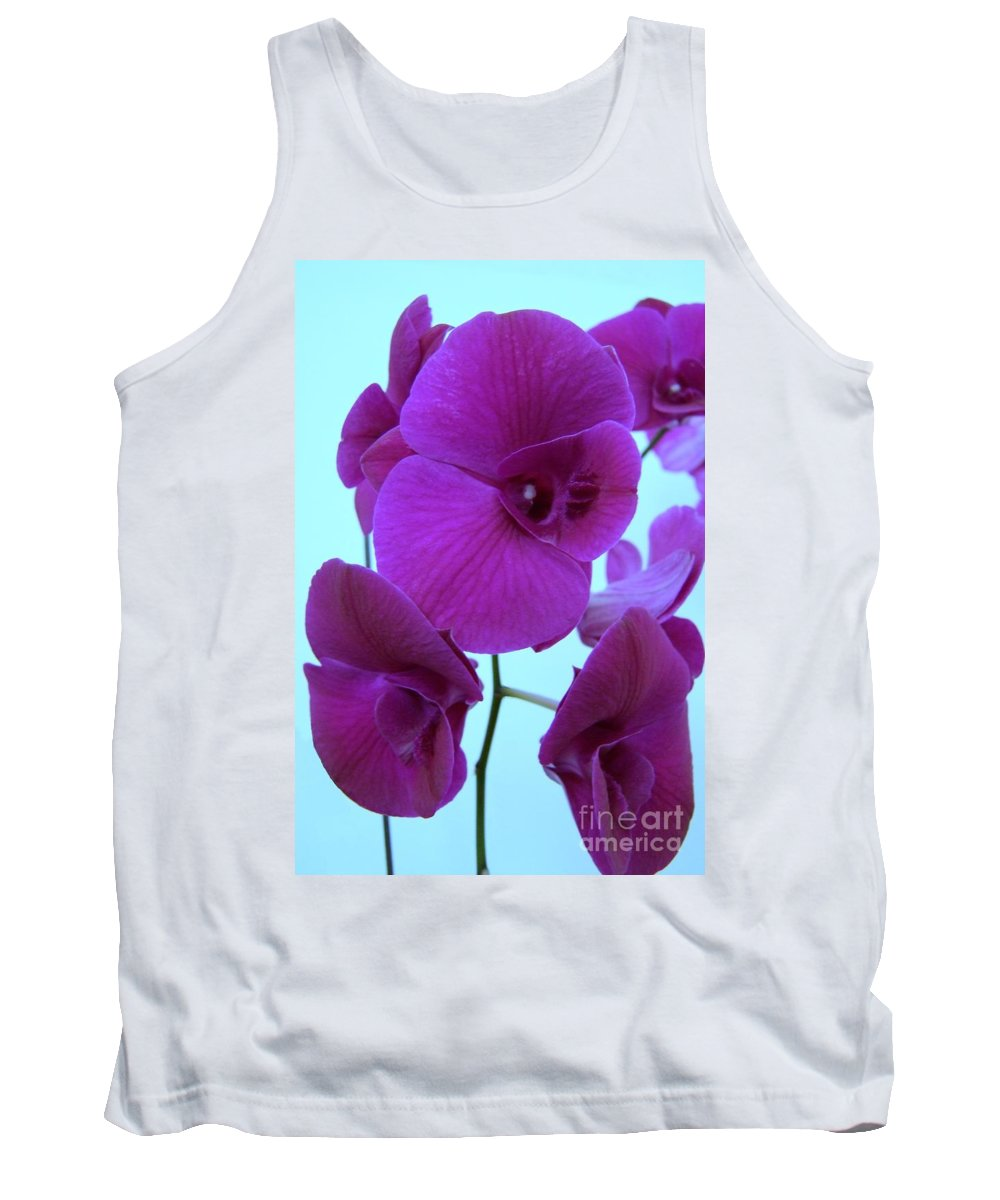 Orchid Tank Top featuring the photograph Purple Orchids 3 by Mary Deal