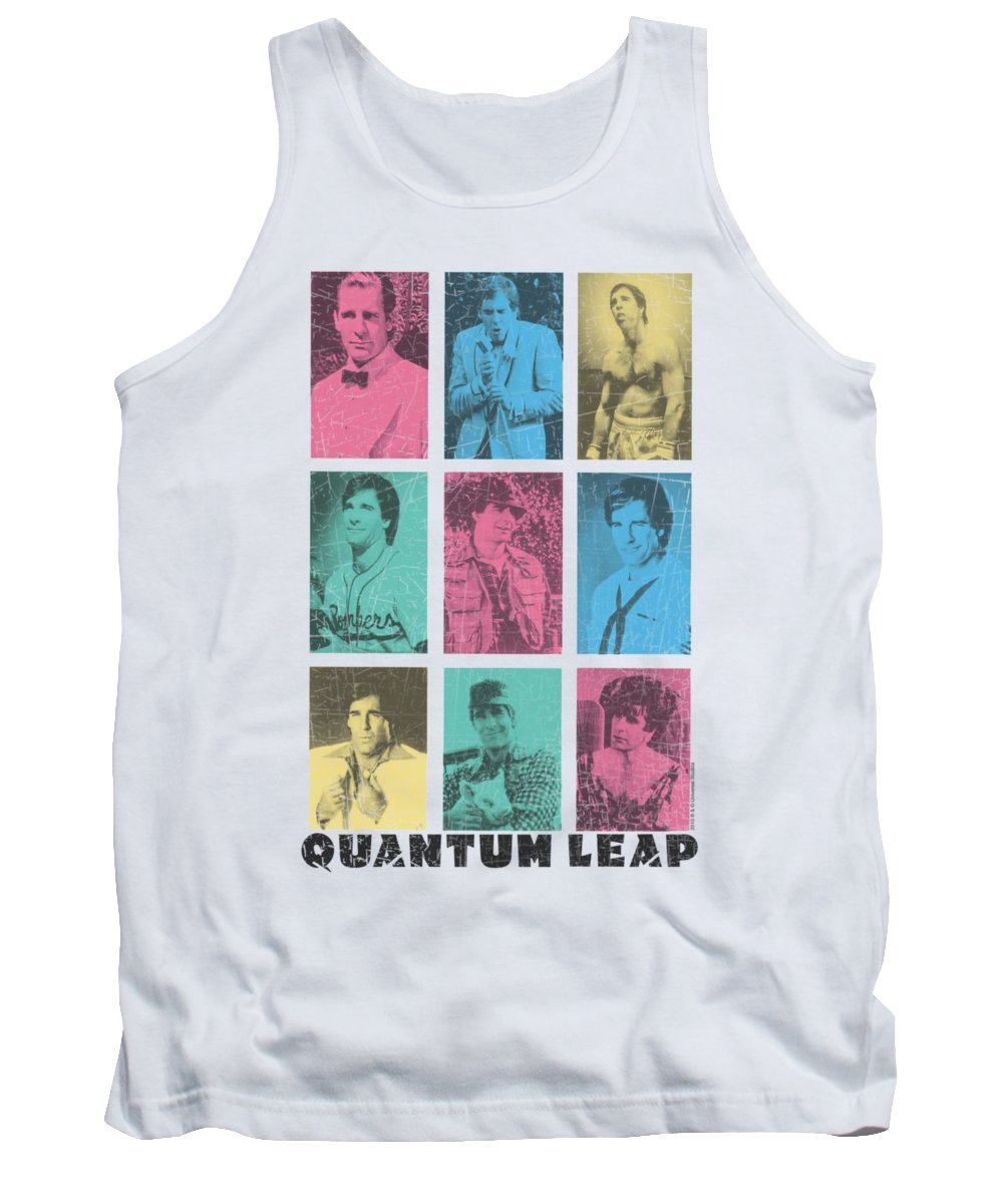 Quantum Leap Tank Top featuring the digital art Quantum Leap - Faces Of Sam by Brand A