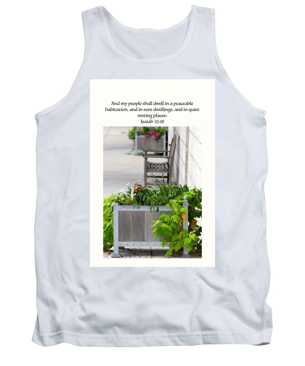#flower Box Tank Top featuring the photograph Quiet Resting Places by Debbie Nobile