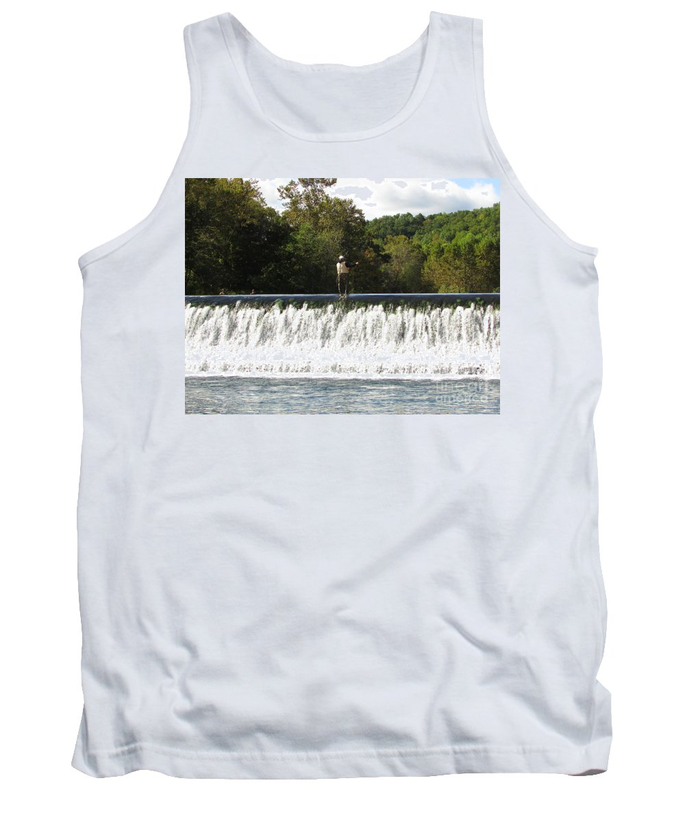 Trout Fishing Tank Top featuring the photograph Quiet Time by Jamie Smith
