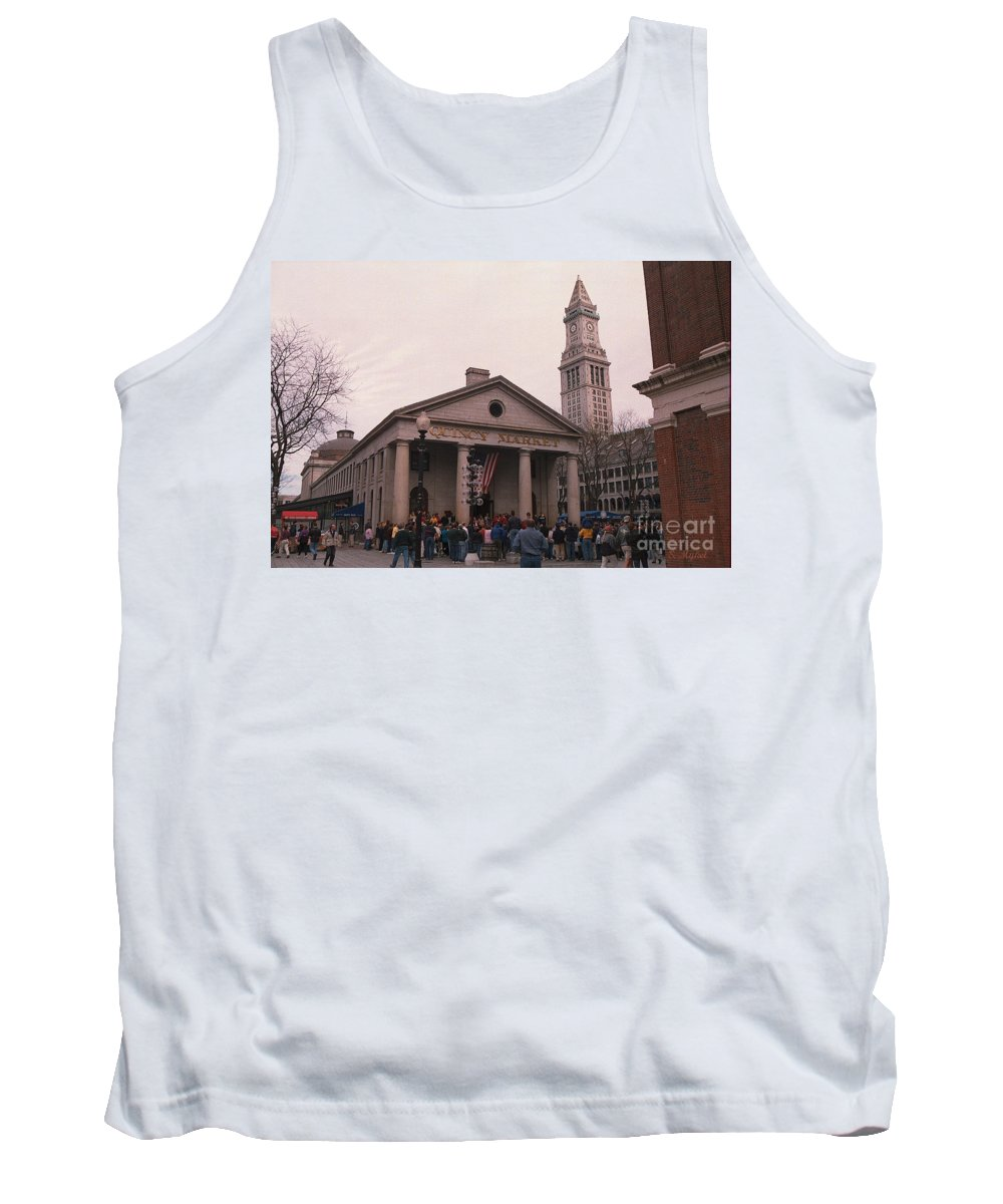 Boston Tank Top featuring the photograph Quincy Market - Boston Massachusetts by S Mykel Photography