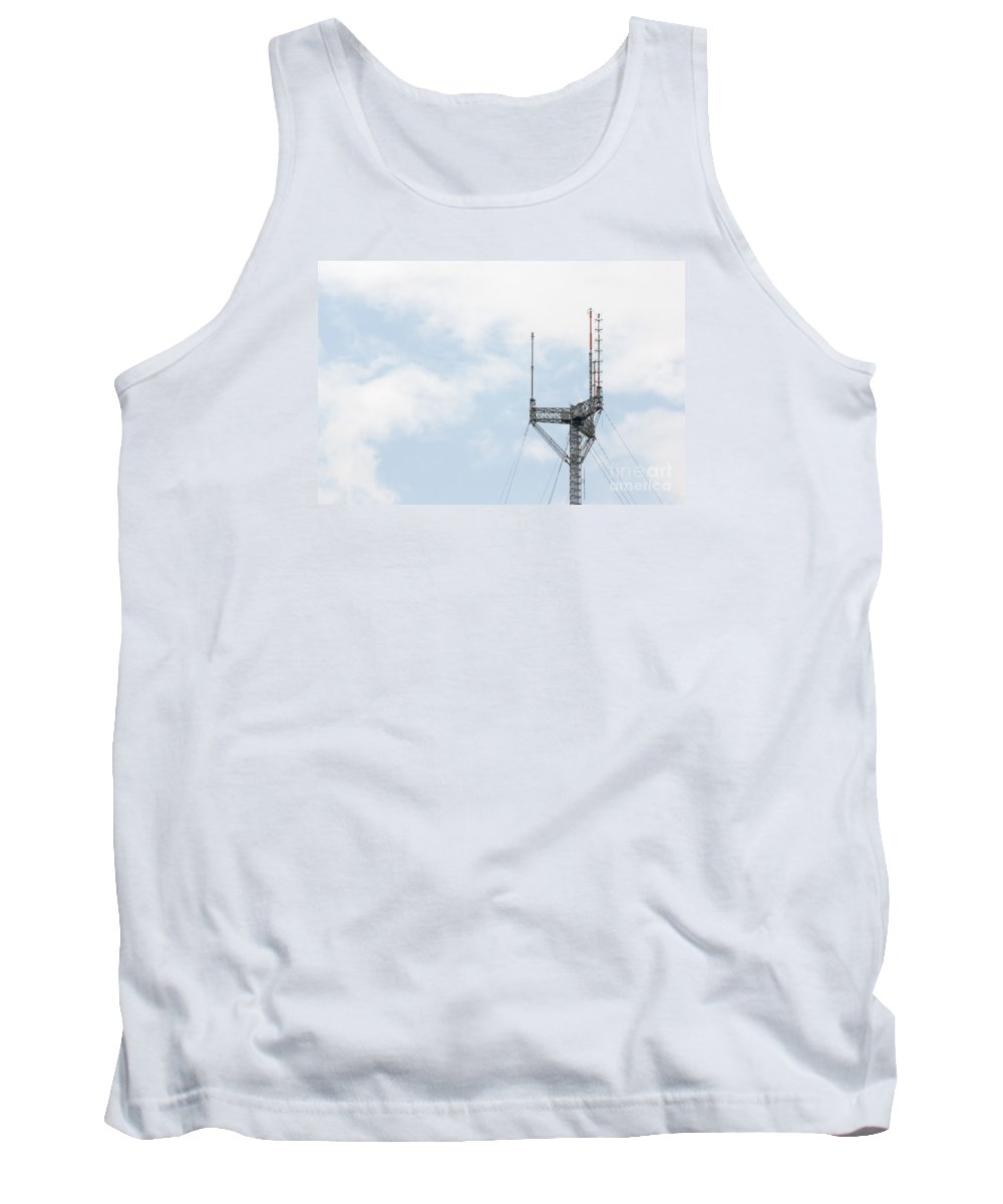 Radio Tank Top featuring the photograph Radio Tower Closeup by Imagery by Charly