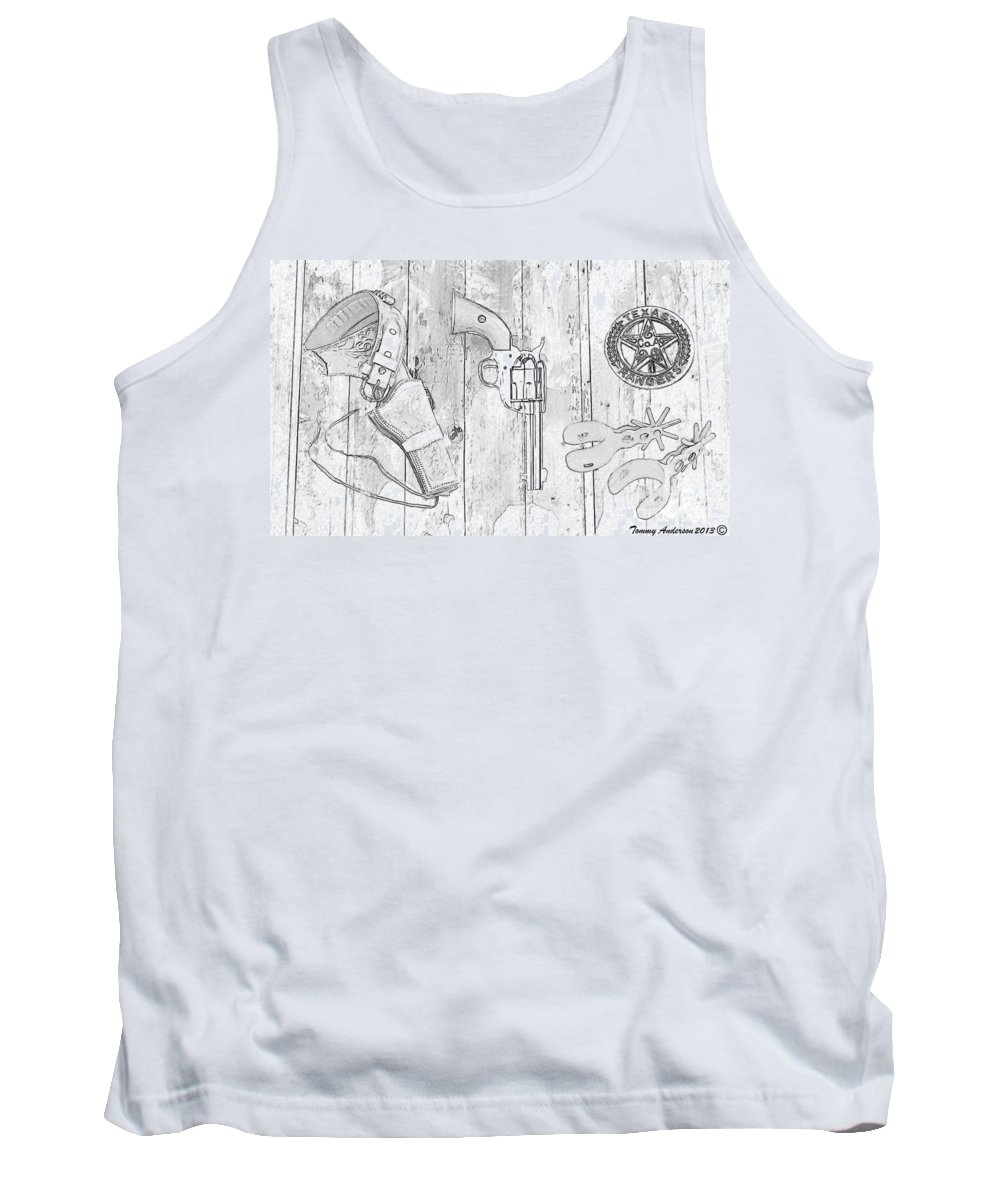 Texas Rangers Tank Top featuring the photograph Ranger Up - Bw by Tommy Anderson