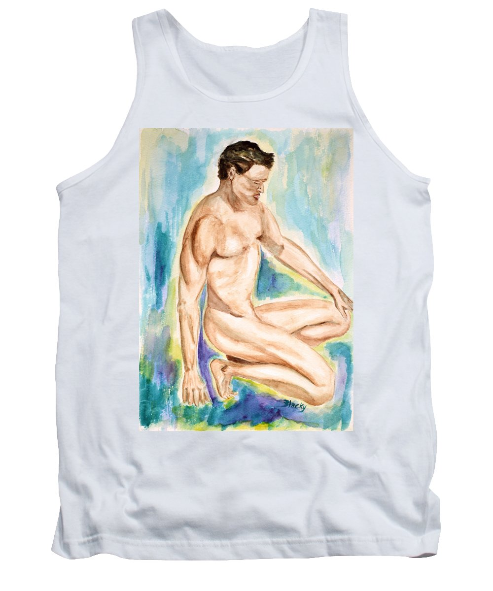 Male Tank Top featuring the painting Rebirth Of Apollo by Donna Blackhall