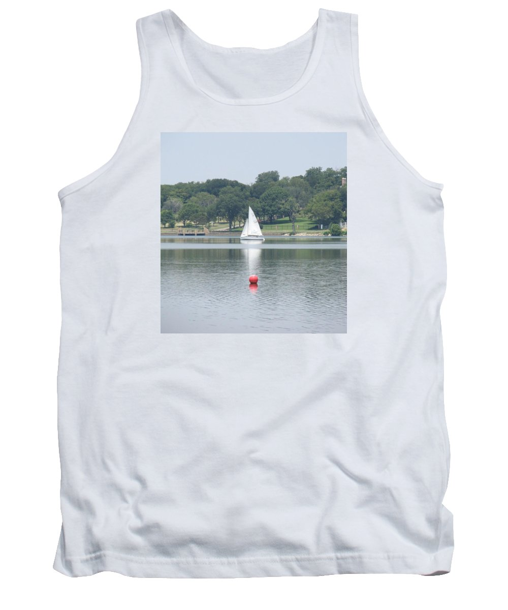 Sailboats Tank Top featuring the photograph Red Ball Sailing by Donna Wilson