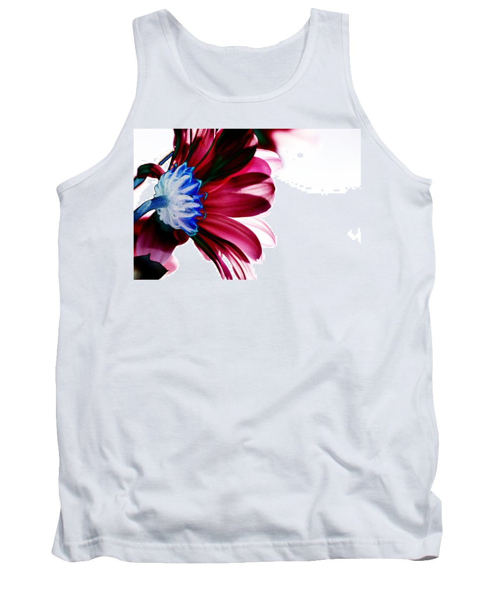 Red Tank Top featuring the digital art Red Flower by Carol Lynch