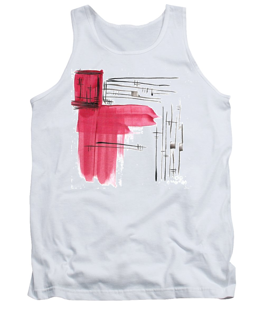Brandon Lynch Tank Top featuring the painting Red Man Jesus by Brandon Lynch