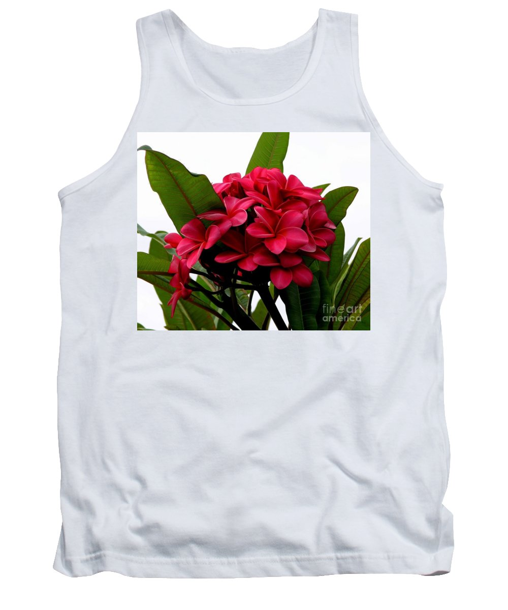 Plumeria Tank Top featuring the photograph Red Plumeria by Mary Deal