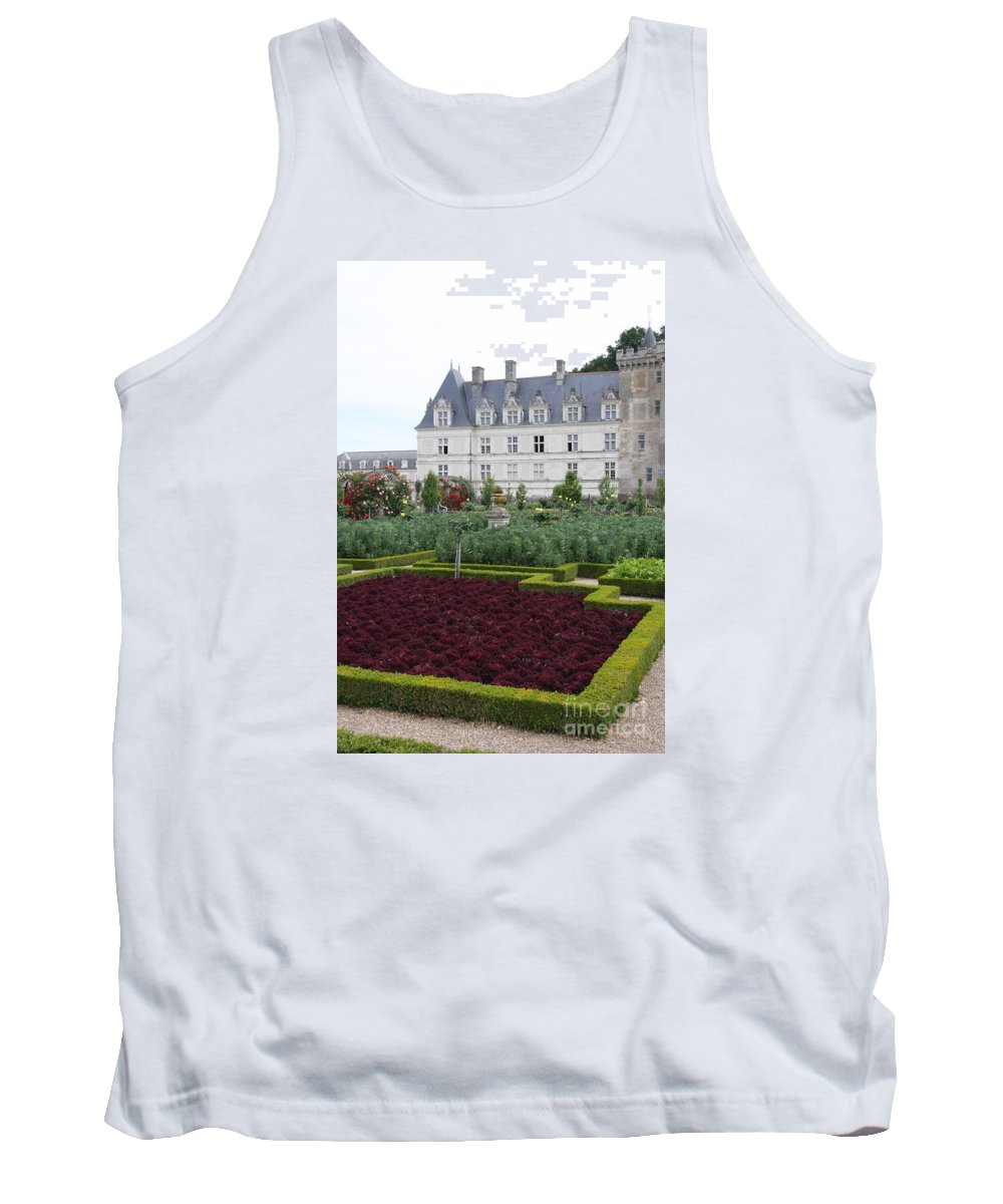 Cabbage Tank Top featuring the photograph Red Salad And Cabbage Garden - Chateau Villandry by Christiane Schulze Art And Photography