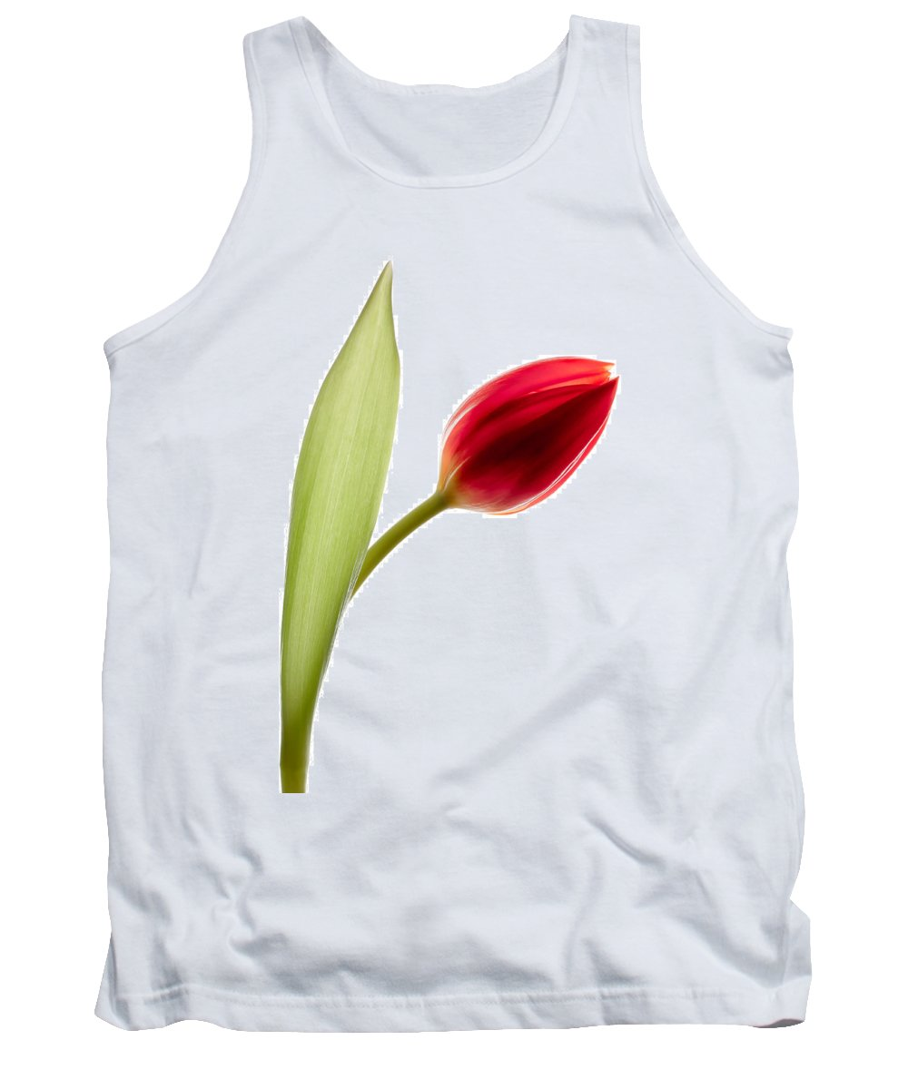 Red Tulip Tank Top featuring the photograph Red Tulip by Dave Bowman