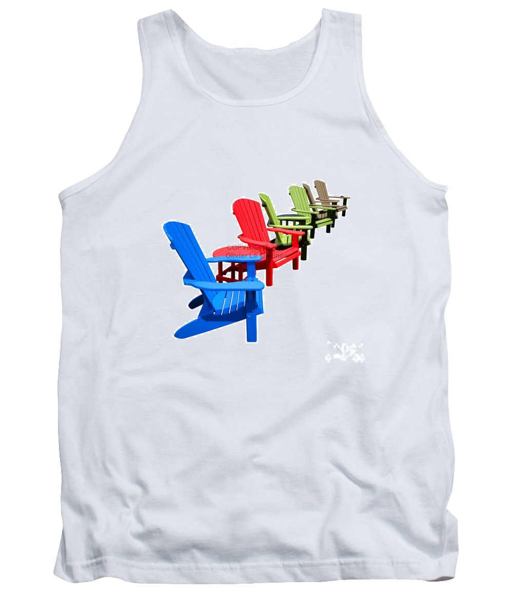 Adirondack Tank Top featuring the photograph Relax by Olivier Le Queinec