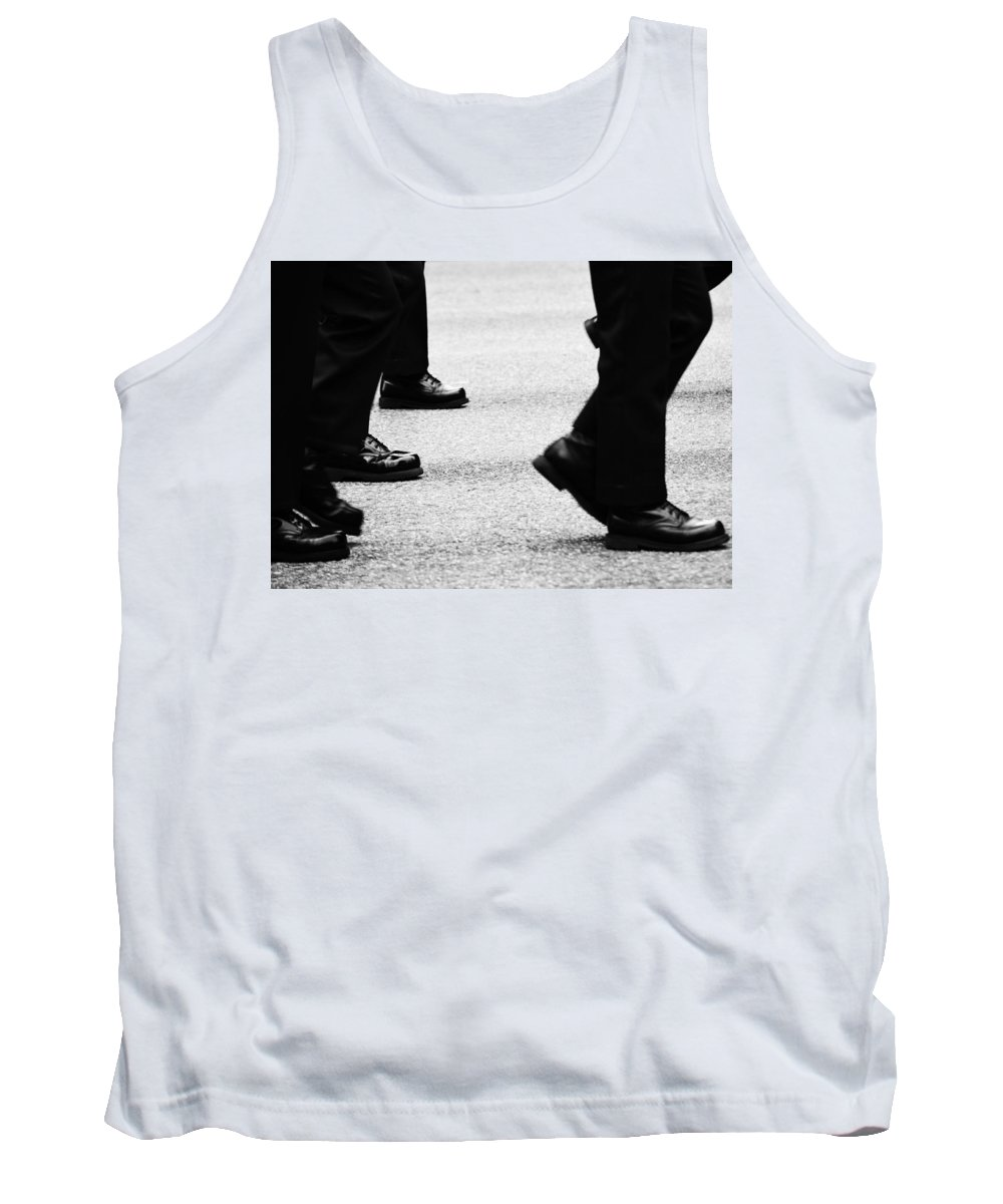 Street Photography Tank Top featuring the photograph Reluctant March by The Artist Project