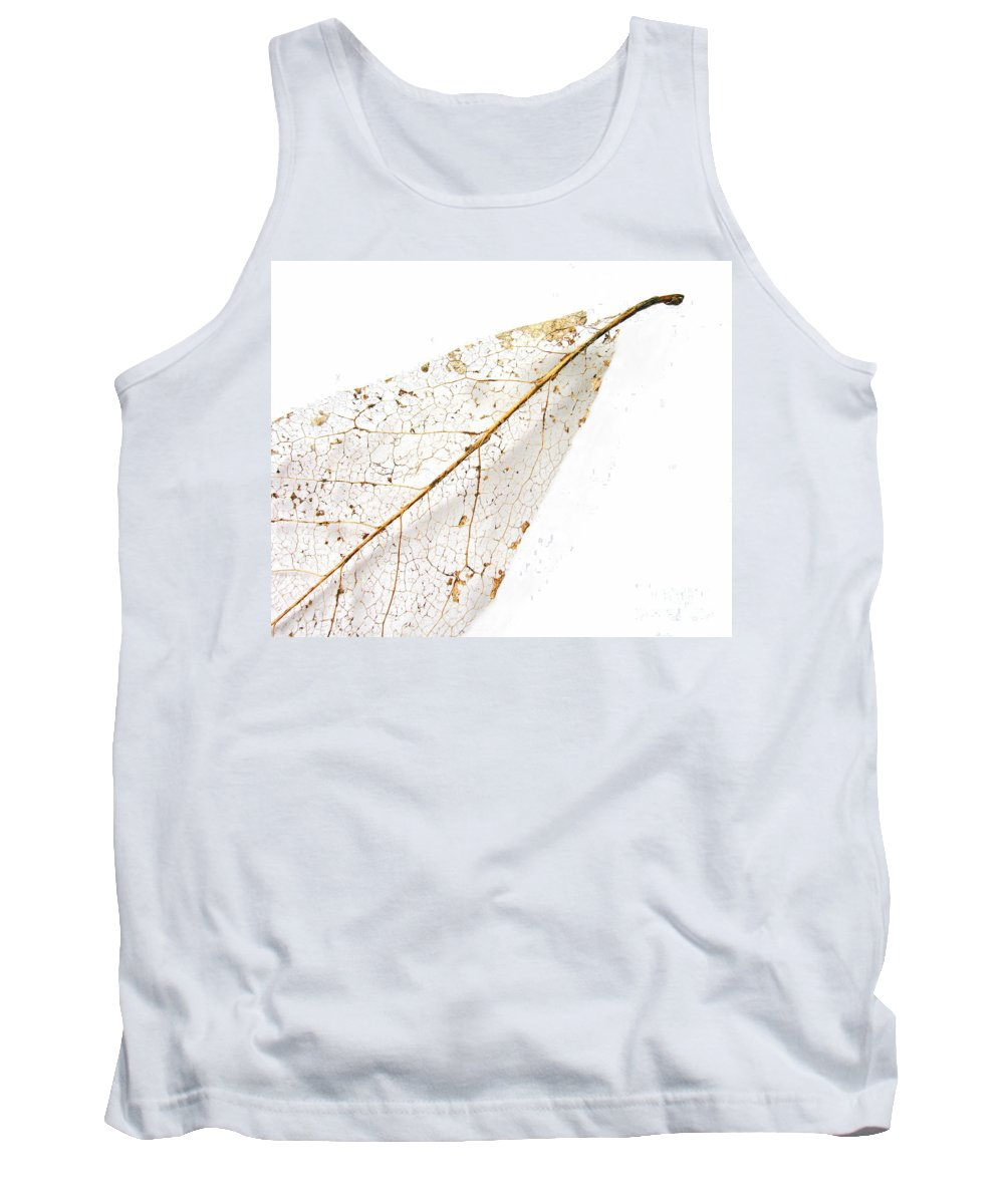 Leaf Tank Top featuring the photograph Remnant Leaf by Ann Horn