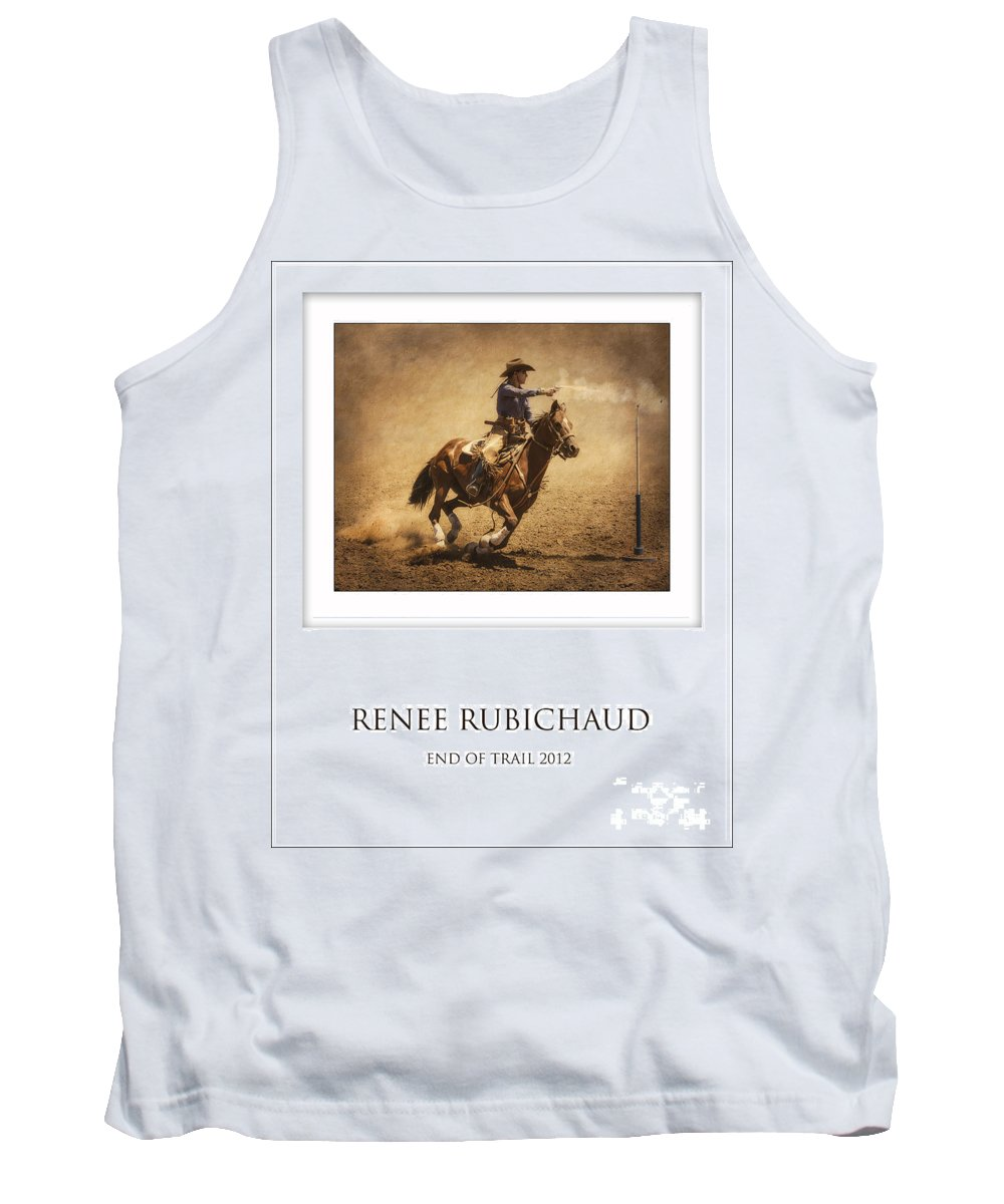 Mounted Shooting Tank Top featuring the photograph Renee Rubichaud At End Of Trail by Priscilla Burgers