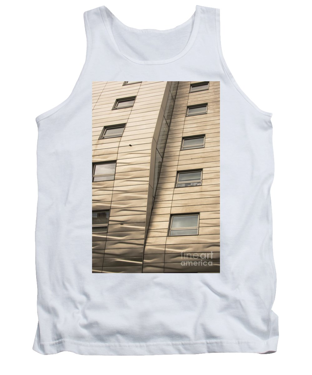 Chelsea High Line Residential Building New York City Cityscape Cityscapes Buildings Architecture Cities Structure Structures Window Windows Tank Top featuring the photograph Chelsea High Line Residential Building by Bob Phillips
