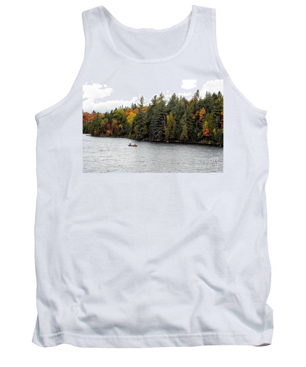 Return Tank Top featuring the photograph Returning From A Canoe Trip by Les Palenik