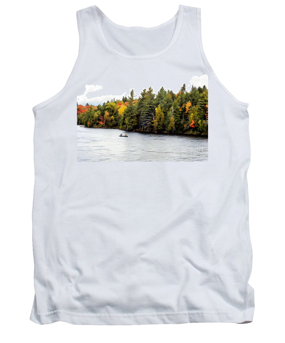 Return Tank Top featuring the photograph Returning From A Canoe Trip - V2 by Les Palenik