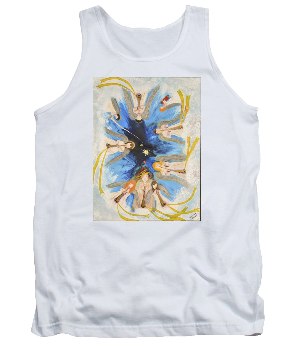 Art-by-cassie Sears Tank Top featuring the painting Revelation 8-11 by Cassie Sears