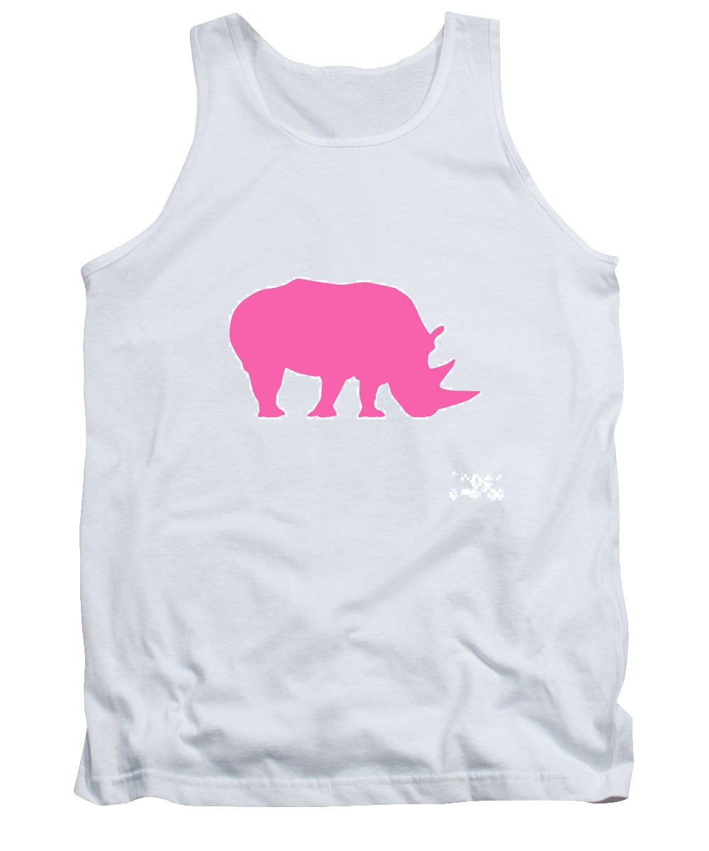 Graphic Art Tank Top featuring the photograph Rhino In Pink by Jackie Farnsworth