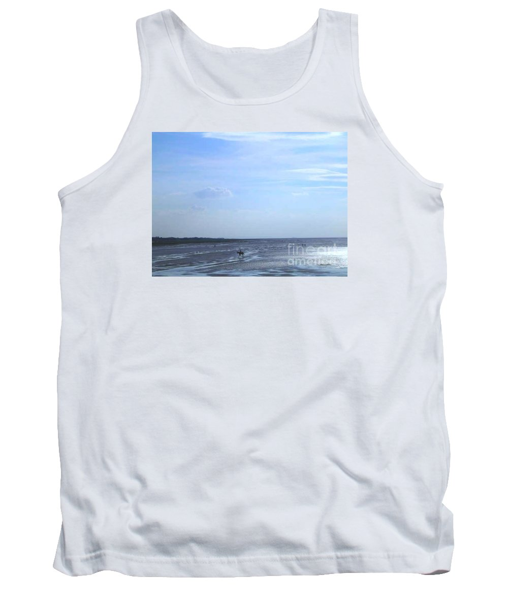 Seascape Tank Top featuring the photograph Riding Through The Tide by Joan-Violet Stretch