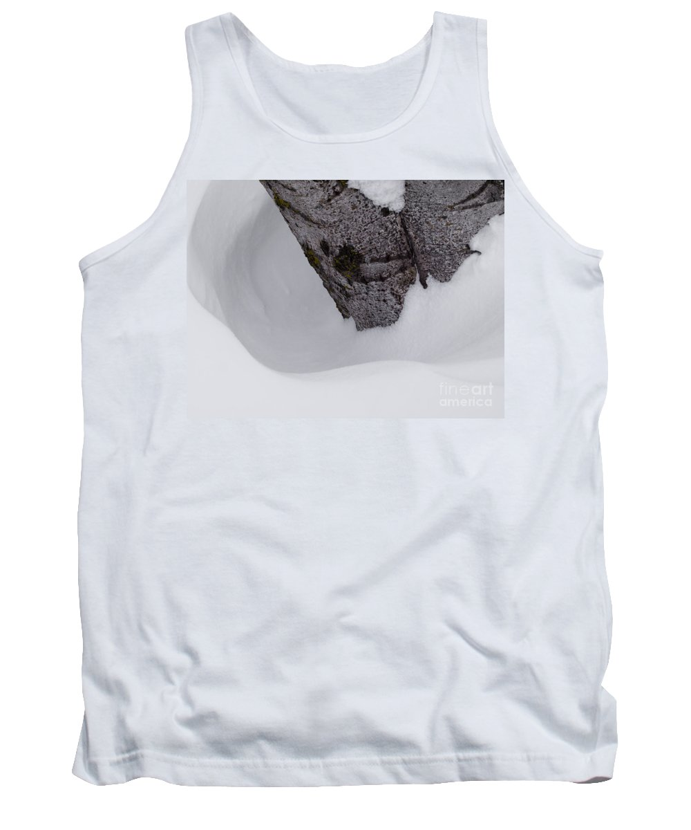 Snow Tank Top featuring the photograph Ring Around The Tree by Tara Lynn