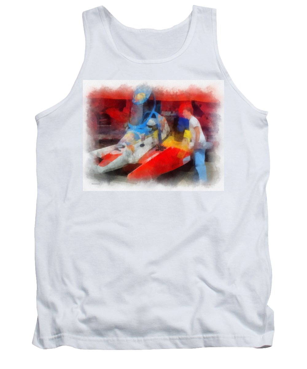 River Racing Tank Top featuring the photograph River Speed Boat Number 2 Photo Art by Thomas Woolworth