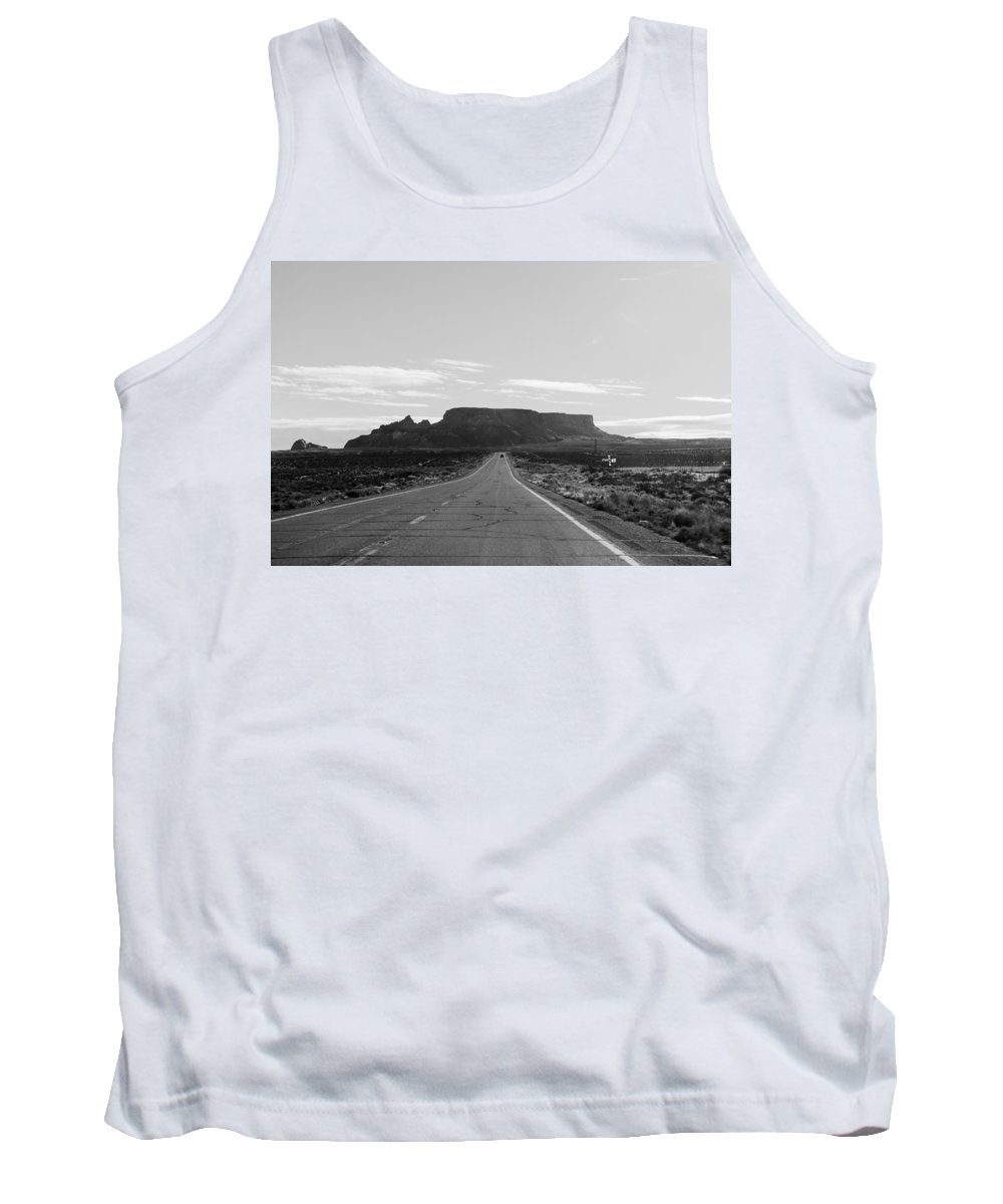 Monument Valley Tank Top featuring the photograph Road To The Rock by Jason Chu
