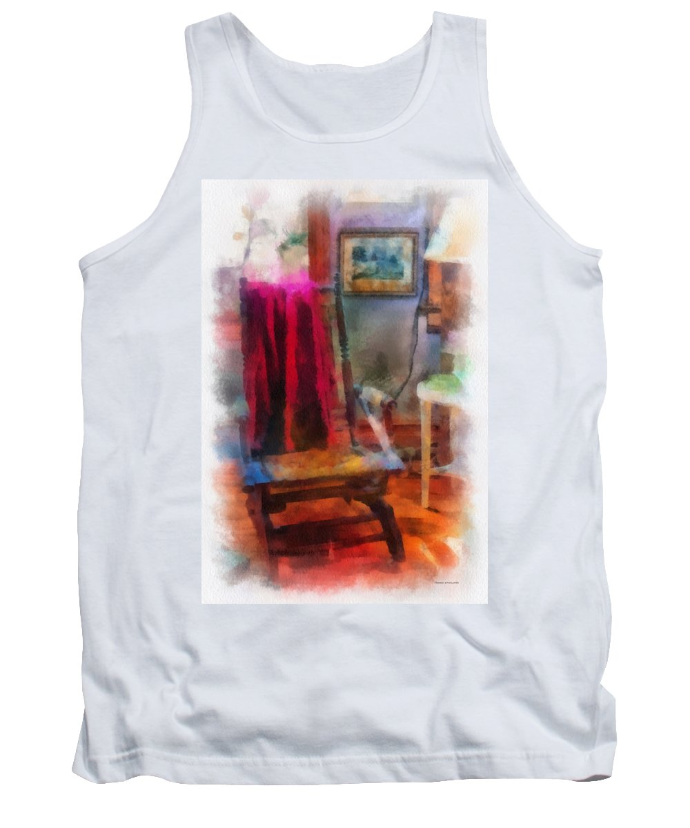 Rocking Tank Top featuring the photograph Rocking Chair Photo Art by Thomas Woolworth